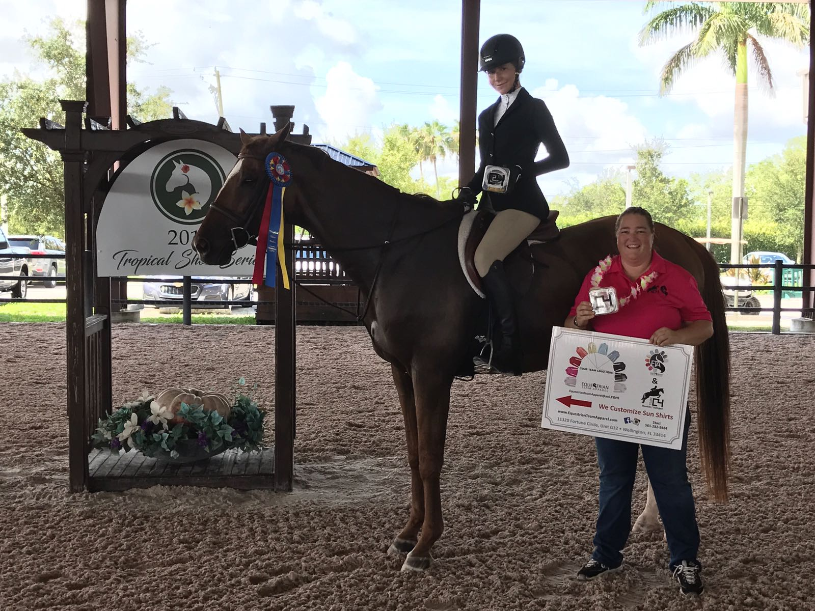 a9652d8abec Equestrian athletes Mila Sands and Gabriella Moran returned home to Nassau  this week in triumph after their success in the first leg of the Tropical  Show ...