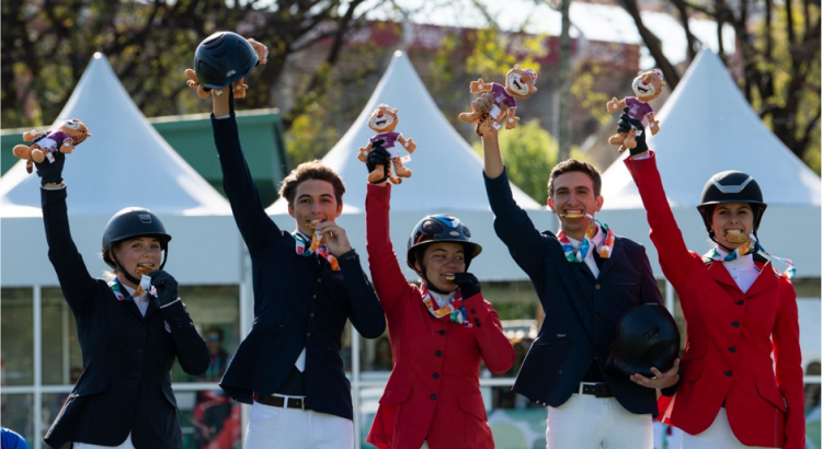 The Gold-Medal winning North American Team in the Team Jumpers Event at the 2018 Summer Youth Olympics in Buenos Aires shows the changing complexion of Equestrian Sport: Team members were from Mexico, Haiti, Panama, Honduras, and the USA. Photo Credit: IOC