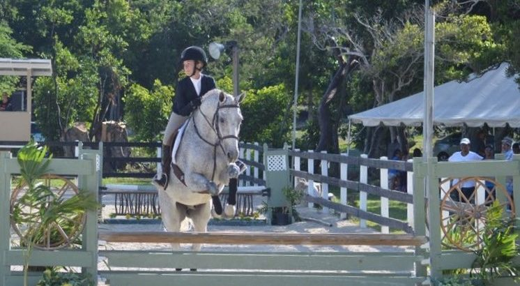Peyton Wong riding her own Shadowfax in the Camperdown Equestrian Centre Annual Show